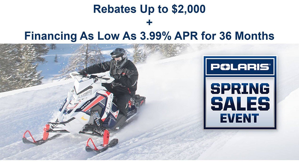 Polaris - Spring Sales Event - Snowmobiles